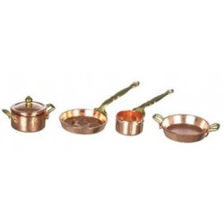 5 PC COPPER POT/PAN SET