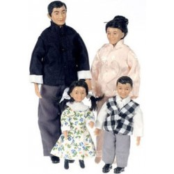 ASIAN FAMILY, SET OF 4