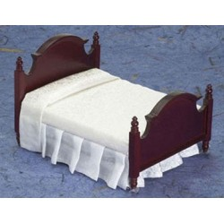 DOUBLE BED, MAHOGANY