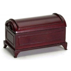 DOMED BLANKET CHEST, MAHOGANY