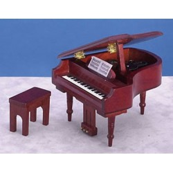 GRAND PIANO, MAHOGANY