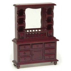 MIRRORED DRESSER, MAHOGANY