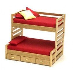 TRUNDLE BUNKBED, OAK