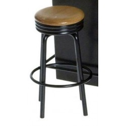 1950'S STOOL, BLACK/OAK
