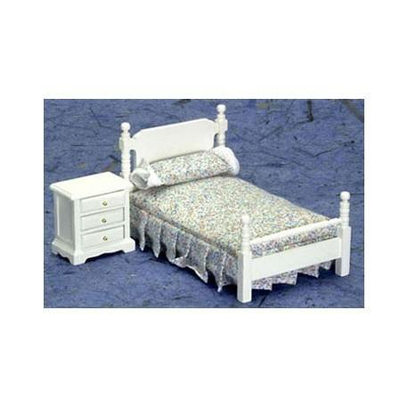 BEDROOM SET, 2PC, WHITE