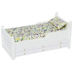 TRUNDLE BED, WHITE