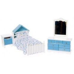 SINGLE BED SET/3/WHITE