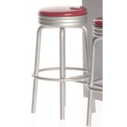 1950 STYLE RED STOOL/CB