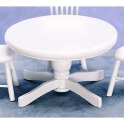 KITCHEN TABLE ROUND, WHITE