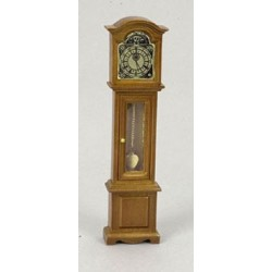 GRANDFATHER CLOCK WALNUT FINISH CABINET