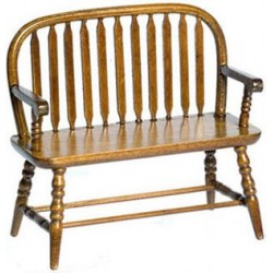COLONIAL WINDSOR BENCH, WALNUT