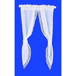 DEMI CURTAINS: TIE BACK, WHITE