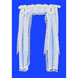 DEMI CURTAINS: VICTORIAN, WHITE
