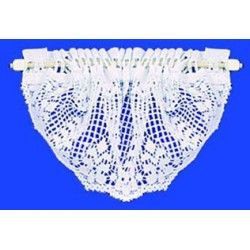 VALANCE: COUNTRY CROCHETED TOP, WHITE