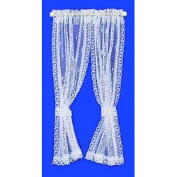 CURTAINS: LACE CURTAIN, WHITE
