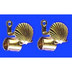 GOLD DRAPERY ROD BRACKETS, 1 PAIR