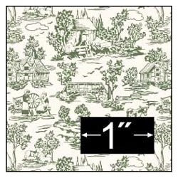 6 pack Wallpaper: Campagne Toile Green
