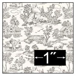 6 pack Wallpaper: Campagne Toile Gray