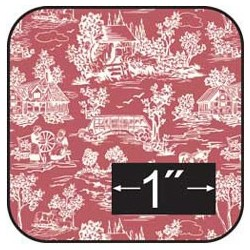 COTTON FABRIC: REVERSE TOILE RED