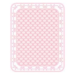 FLOORCLOTH: PINK BOWS