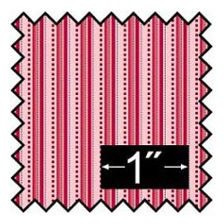 SILK FABRIC: ALBERT STRIPE RED