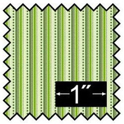 SILK FABRIC: ALBERT STRIPE GREEN