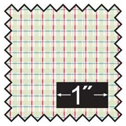SILK FABRIC: CHERRY PLAID