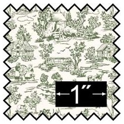 SILK FABRIC: CAMP. TOILE GREEN