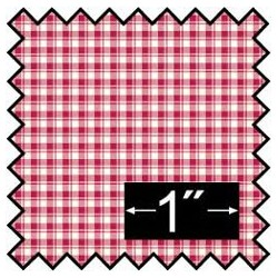SILK FABRIC: FRENCH CHECK RED
