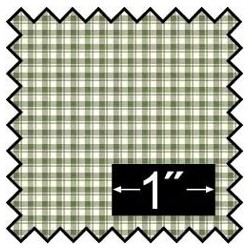 SILK FABRIC: FRENCH CHECK GREEN
