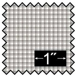 SILK FABRIC: FRENCH CHECK GREY