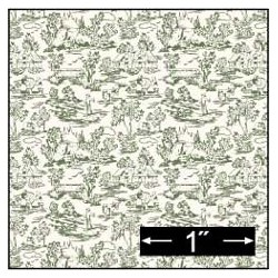 6 pack 1/2 Scale Wallpaper: Campagne Green