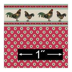 6 pack 1/2 Scale Wallpaper: Rooster