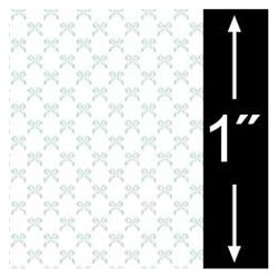 6 pack 1/4 Scale Wallpaper: Bows, Blue