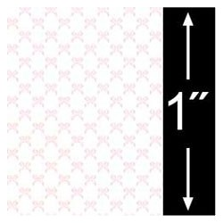 6 pack 1/4 Scale Wallpaper: Bows, Rose