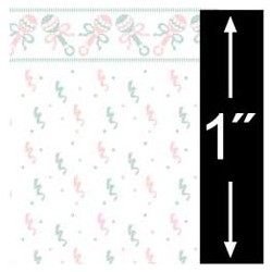 6 pack 1/4 Scale Wallpaper: Baby Rattles