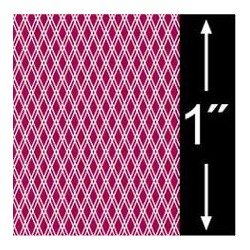 6 pack 1/4 Scale Wallpaper: Lattice Reverse, Garnet