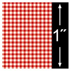 6 pack 1/4 Scale Wallpaper: Gingham, Red