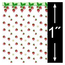6 pack 1/4 Scale Wallpaper: Strawberries