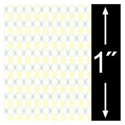 6 pack 1/4 Scale Wallpaper: Floral Trellis, Yellow
