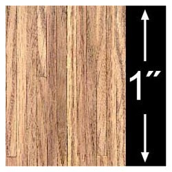 6 pack 1/4 Scale Wallpaper: Light Oak Plank Flooring