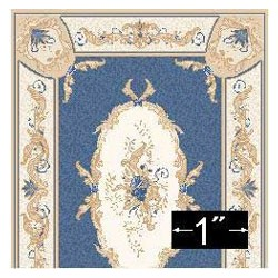RUG: AUBUSSON BLUE