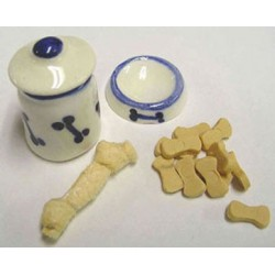 DOG BOWL, CANNISTER, TOY & TREATS