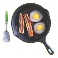 BACON & EGGS W/PAN & SPATULA