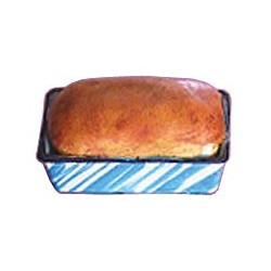 BAKED LOAF OF BREAD IN PAN