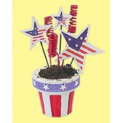 FLOWER POT RED/WH/BLUE