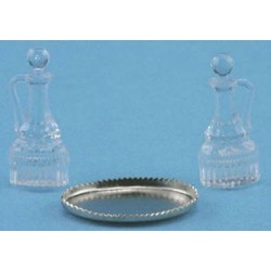 OIL & VINEGAR CRUETS, 2/PCS