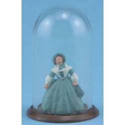 FIGURINE UNDER GLASS DOME
