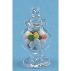 FTD. GLASS APOTHECARY CANDY JAR