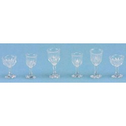 STEMWARE, CLEAR CUT, 6/PC